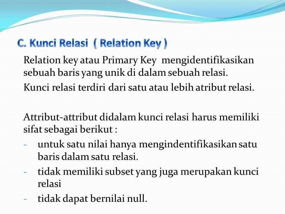 C. Kunci Relasi ( Relation Key )