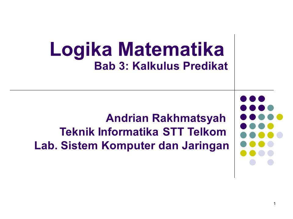 Logika Matematika Bab 3: Kalkulus Predikat