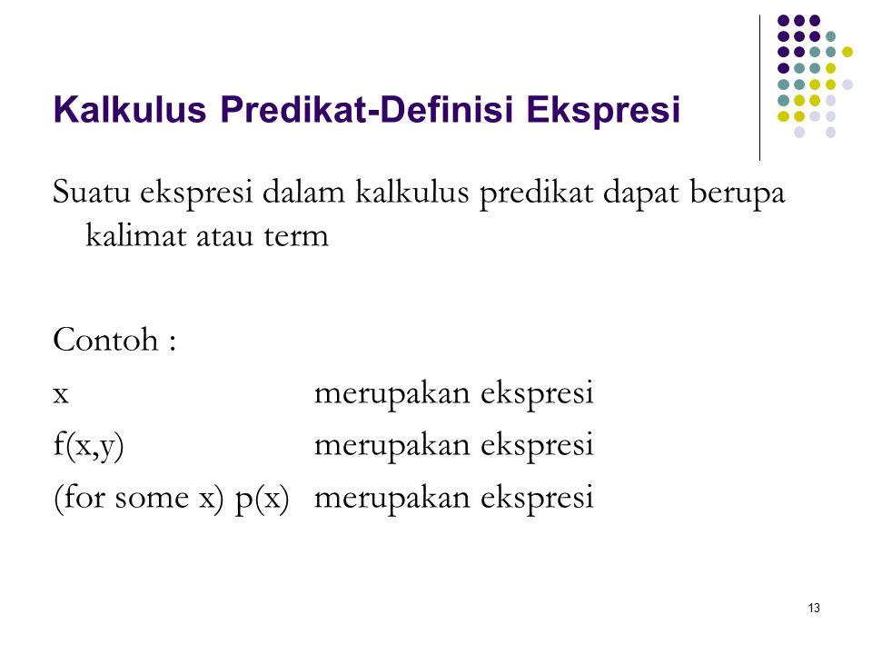 Kalkulus Predikat-Definisi Ekspresi