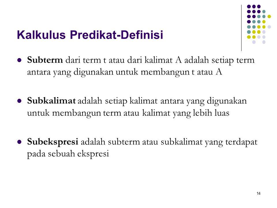 Kalkulus Predikat-Definisi