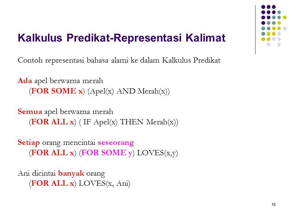 Kalkulus Predikat-Representasi Kalimat