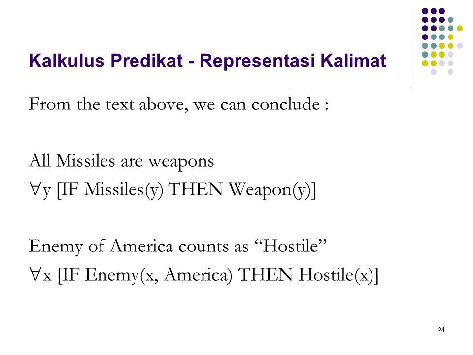 Kalkulus Predikat - Representasi Kalimat