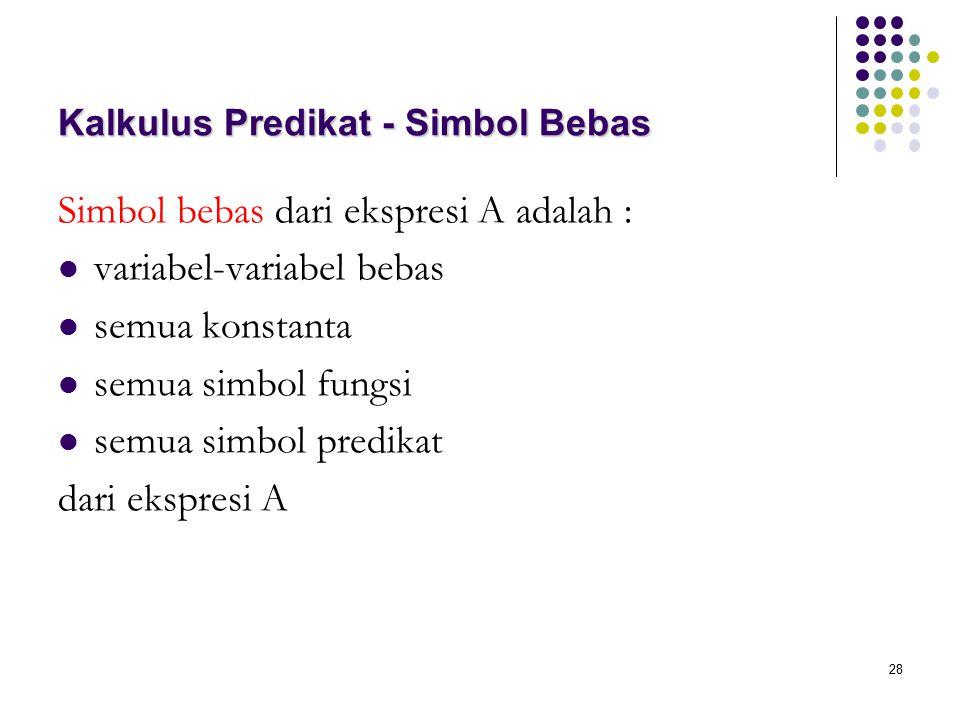 Kalkulus Predikat - Simbol Bebas