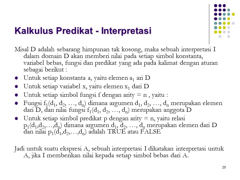 Kalkulus Predikat - Interpretasi