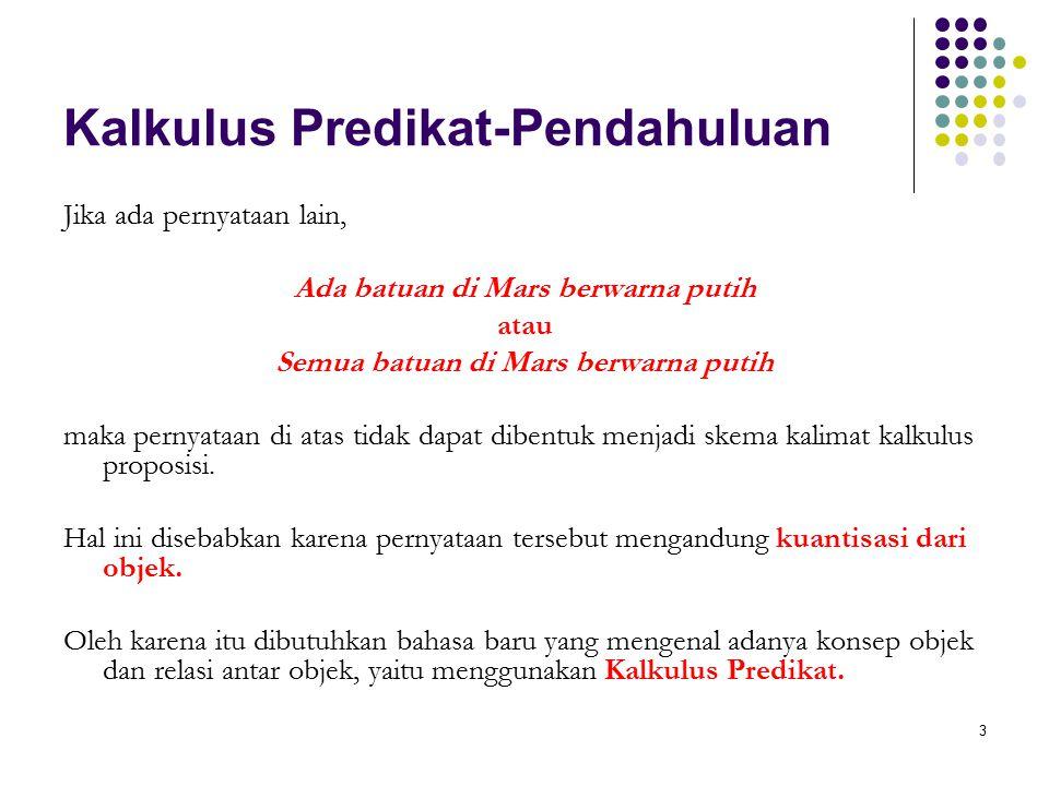 Kalkulus Predikat-Pendahuluan