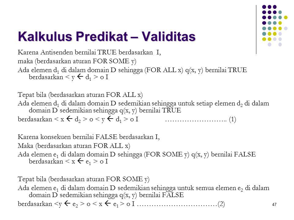 Kalkulus Predikat – Validitas