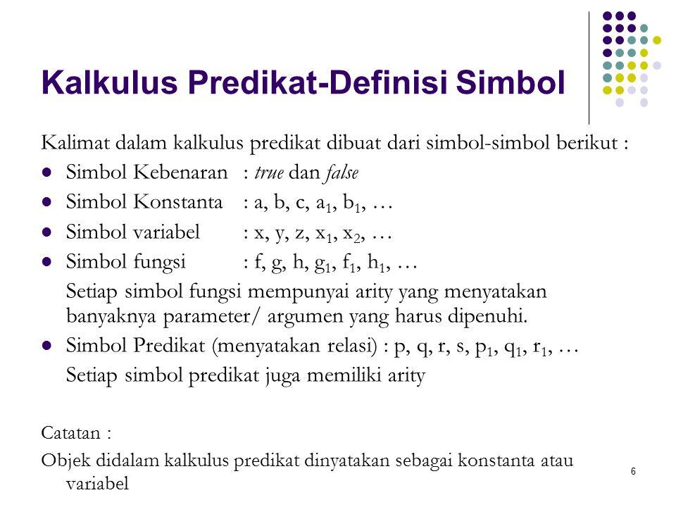 Kalkulus Predikat-Definisi Simbol