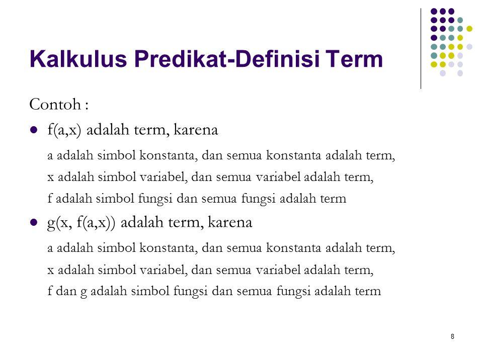 Kalkulus Predikat-Definisi Term
