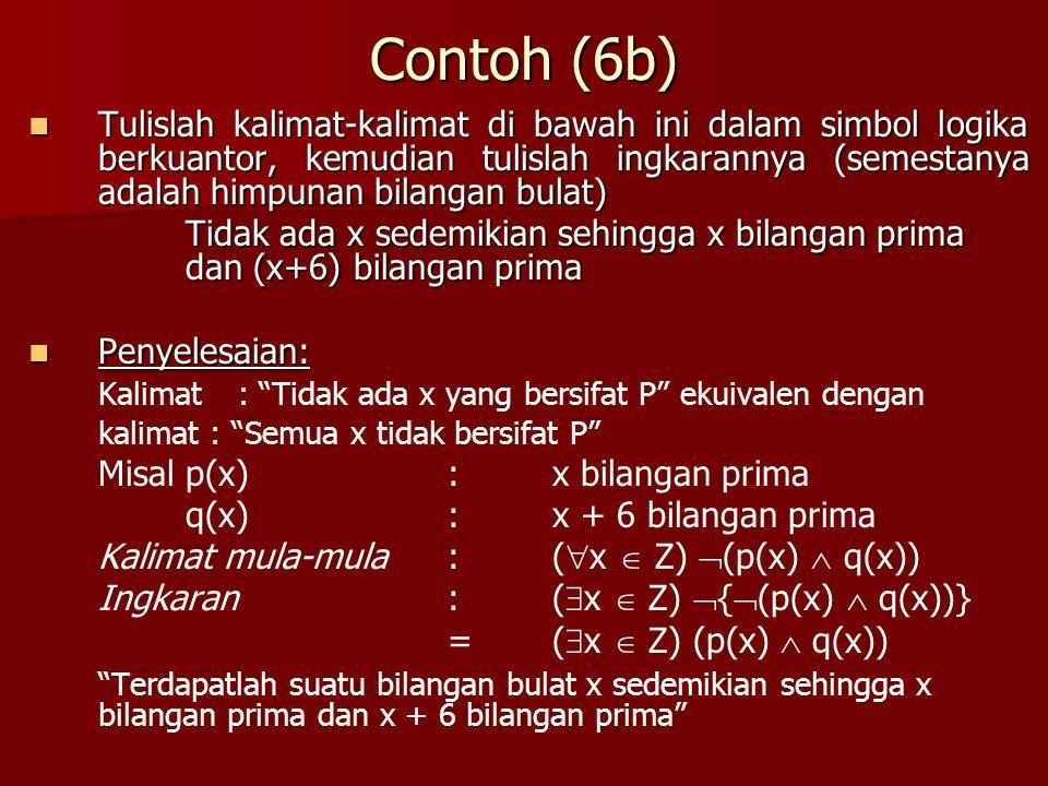 Contoh (6b)