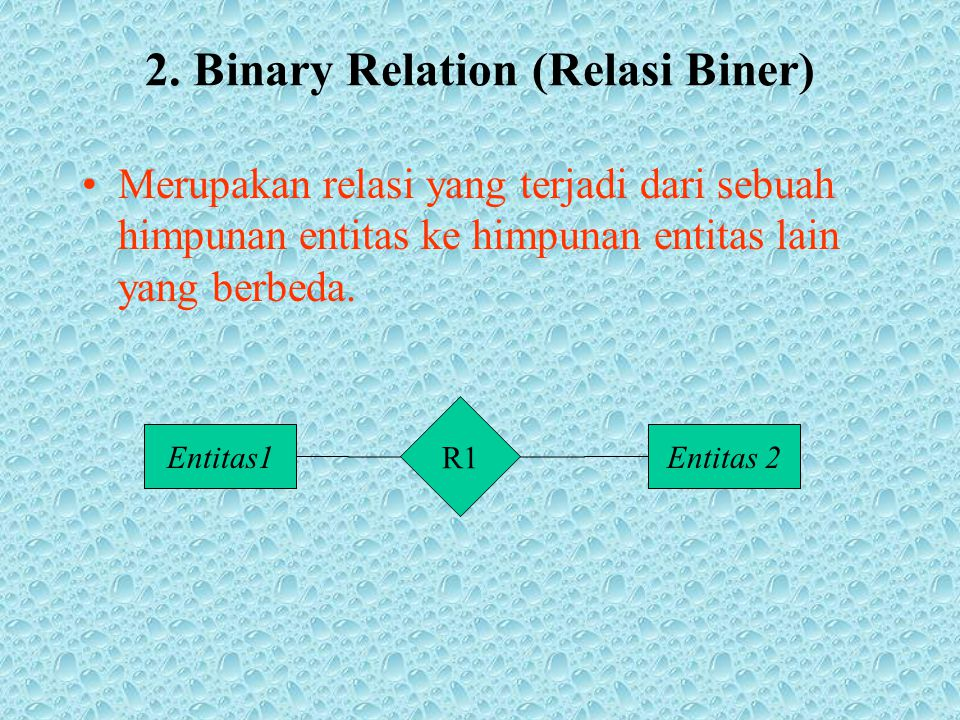 2. Binary Relation (Relasi Biner)