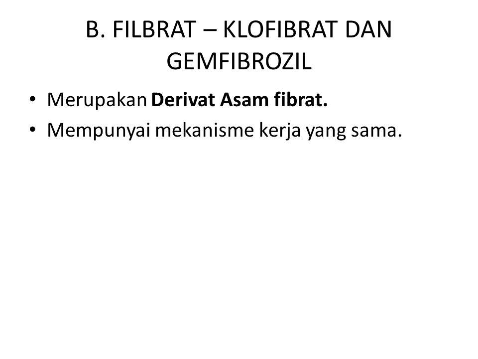 B. FILBRAT – KLOFIBRAT DAN GEMFIBROZIL