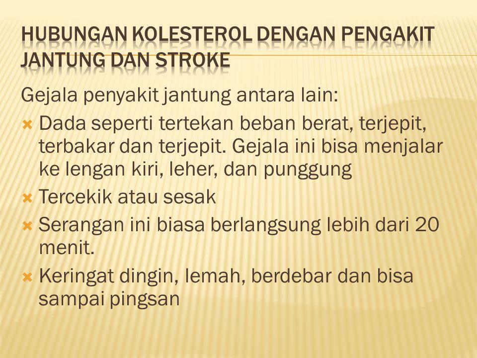 Hubungan kolesterol dengan pengakit jantung dan stroke
