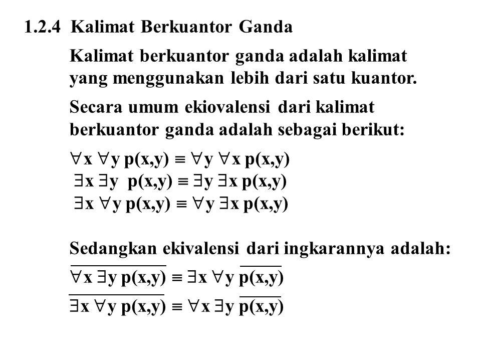 1.2.4 Kalimat Berkuantor Ganda
