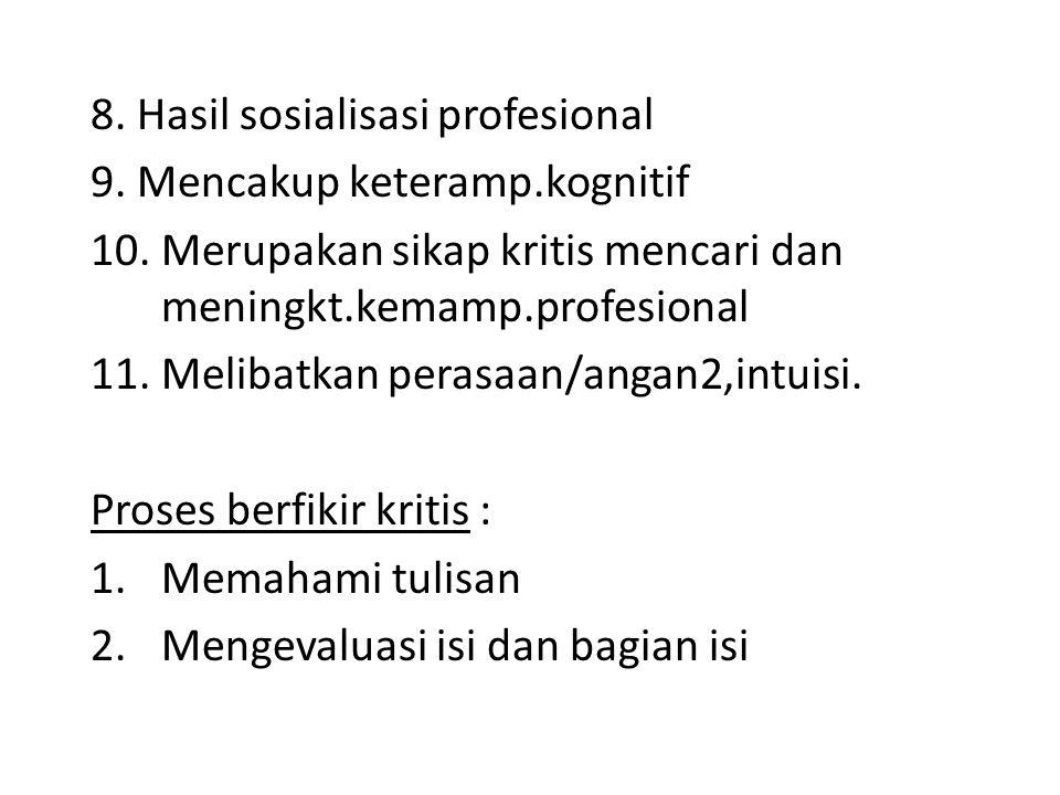 8. Hasil sosialisasi profesional