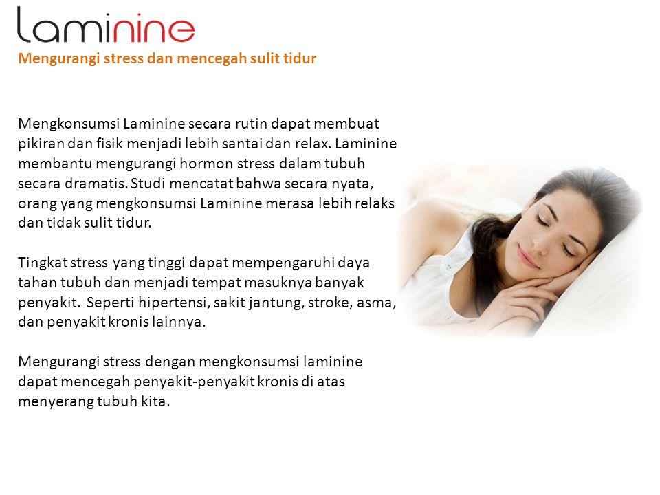 Mengurangi stress dan mencegah sulit tidur
