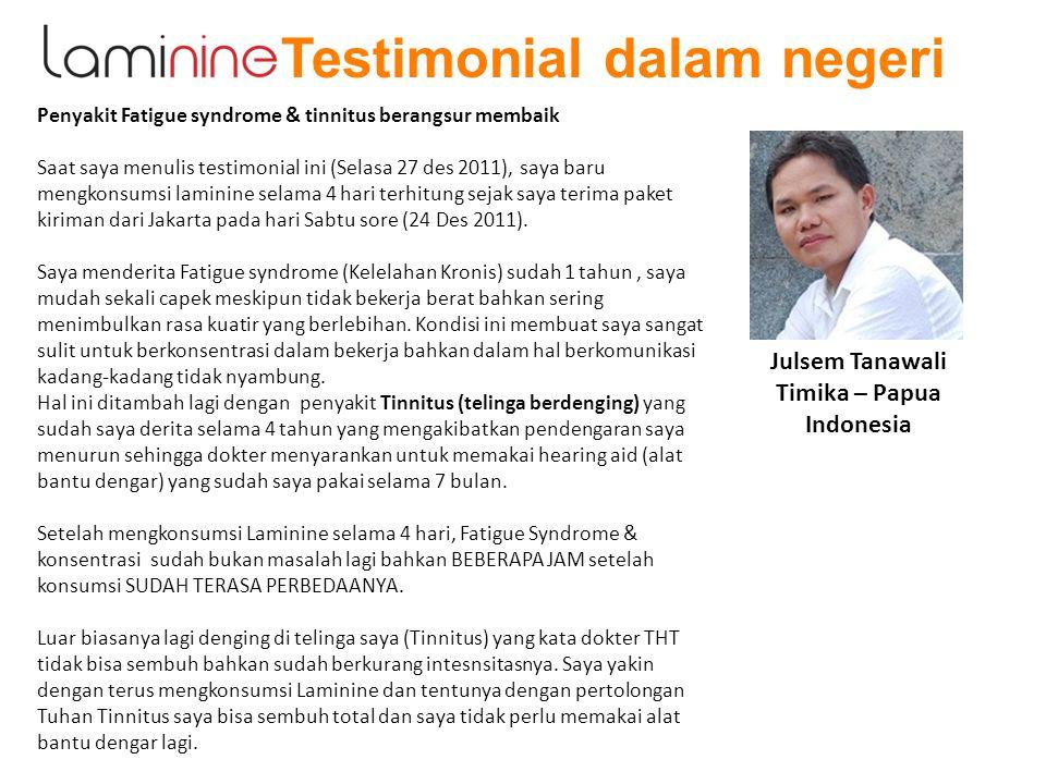 Testimonial dalam negeri