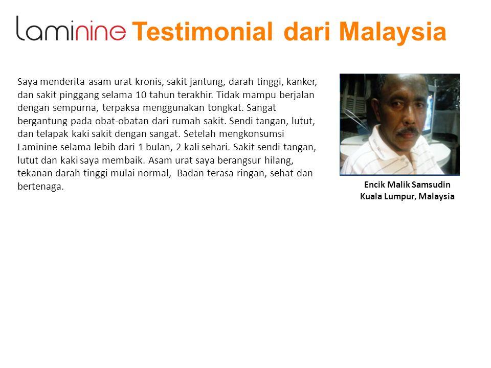 Testimonial dari Malaysia