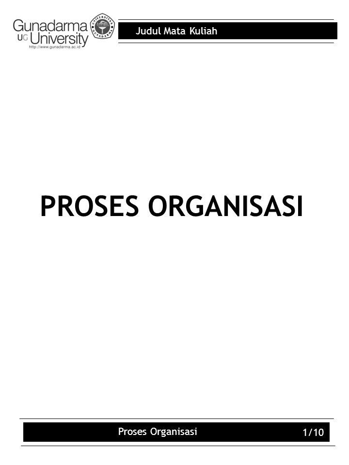 PROSES ORGANISASI Proses Organisasi 1/10