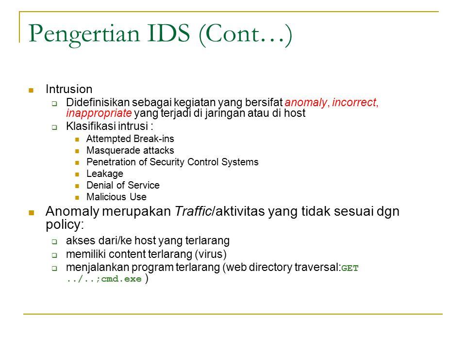 Pengertian IDS (Cont…)