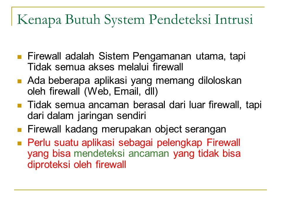 Kenapa Butuh System Pendeteksi Intrusi