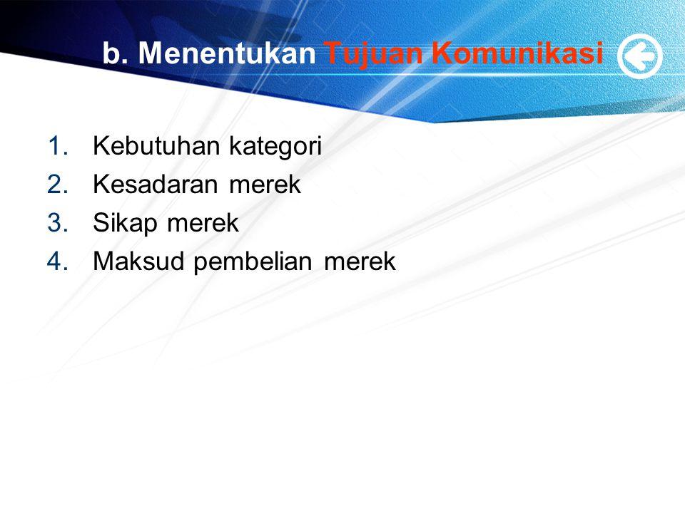 b. Menentukan Tujuan Komunikasi