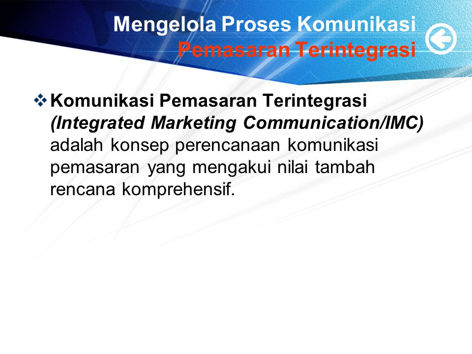 Mengelola Proses Komunikasi Pemasaran Terintegrasi