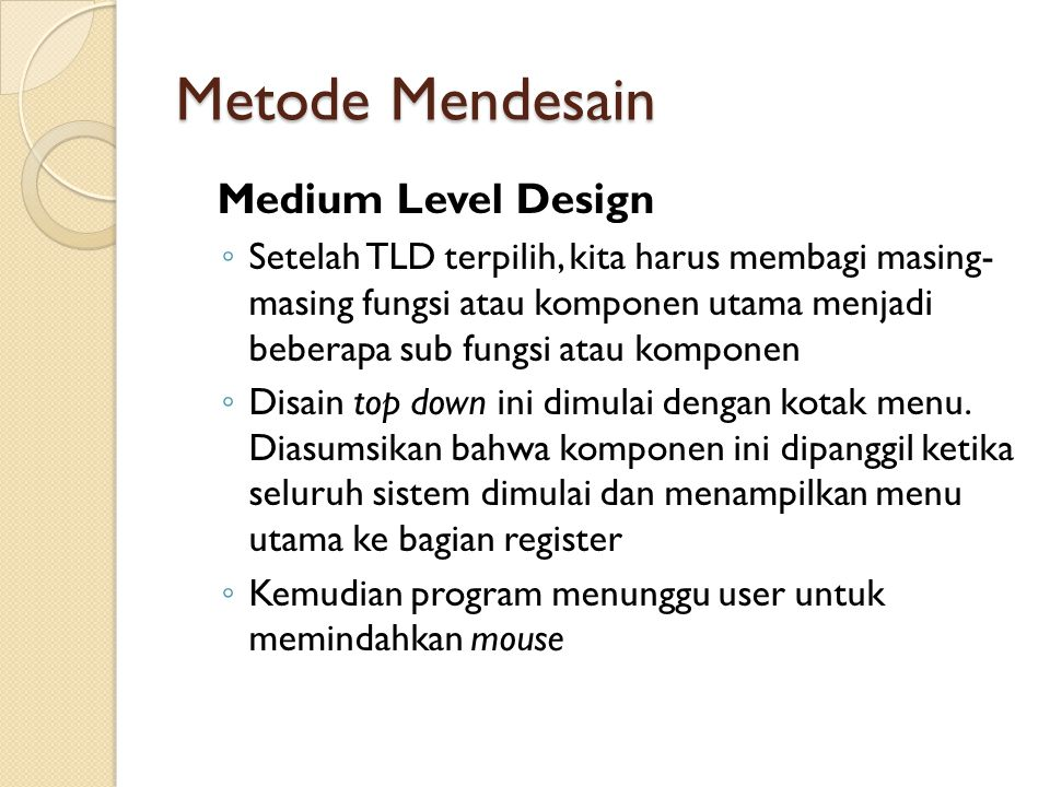 Metode Mendesain Medium Level Design