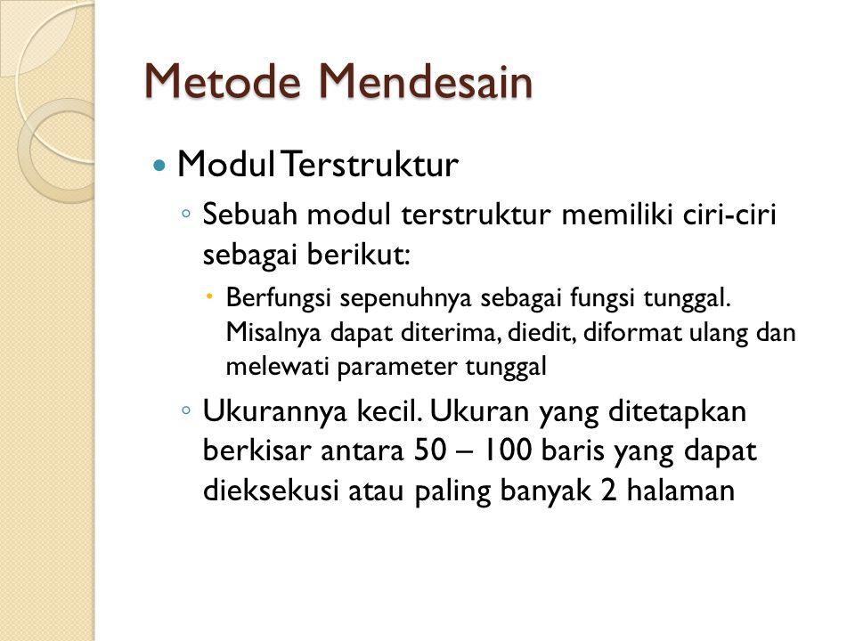 Metode Mendesain Modul Terstruktur