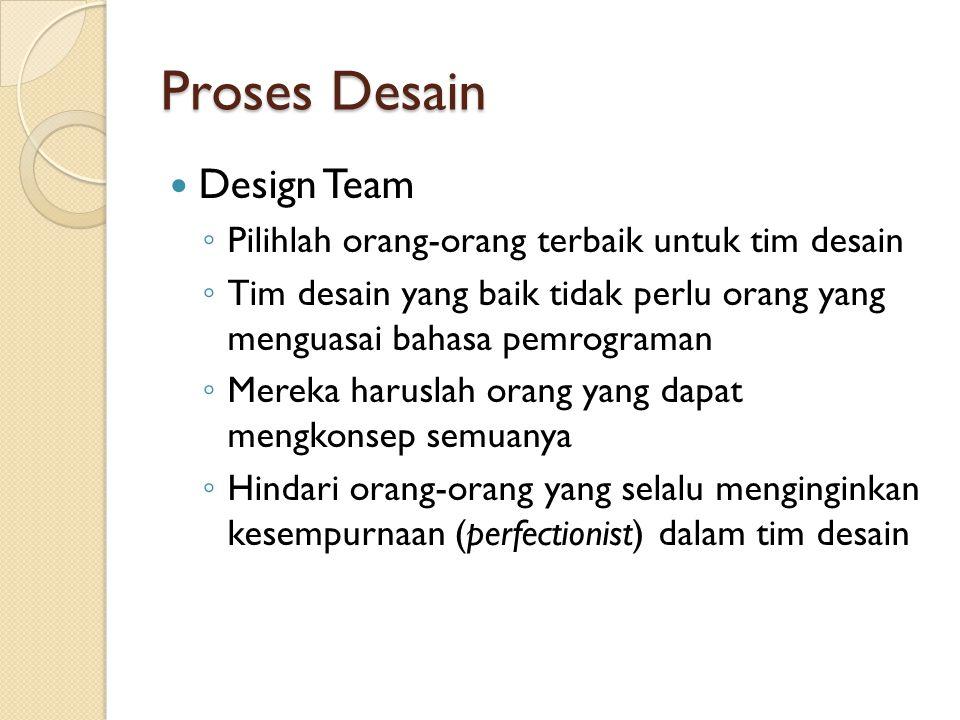 Proses Desain Design Team