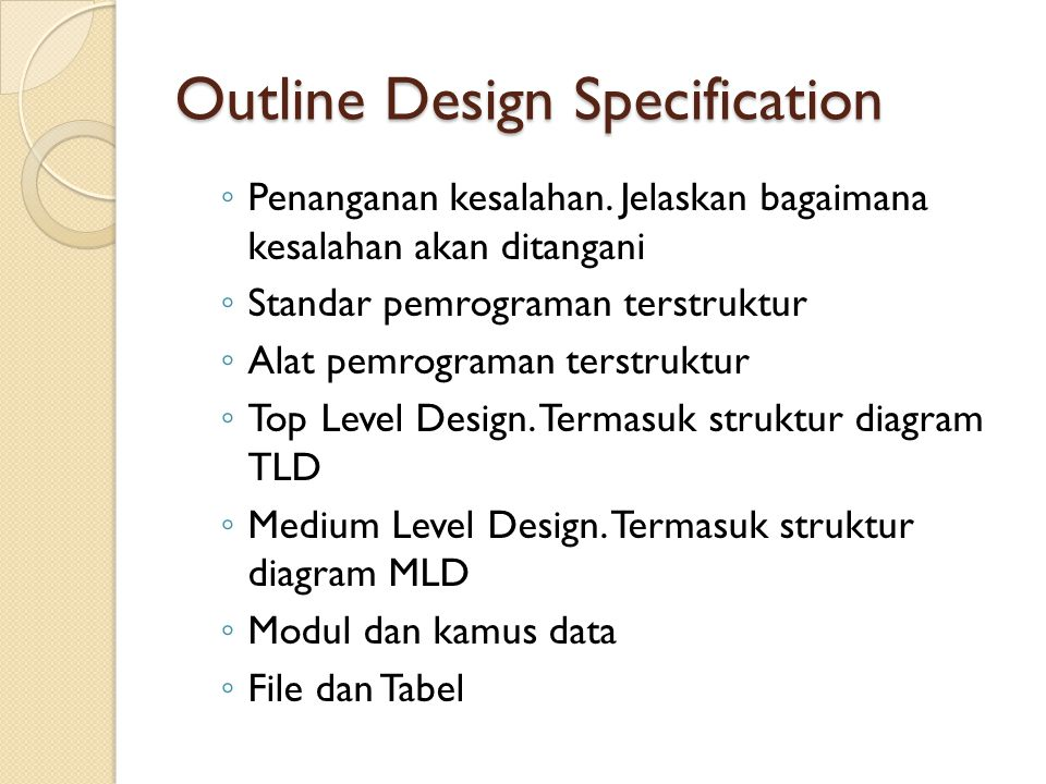 Outline Design Specification
