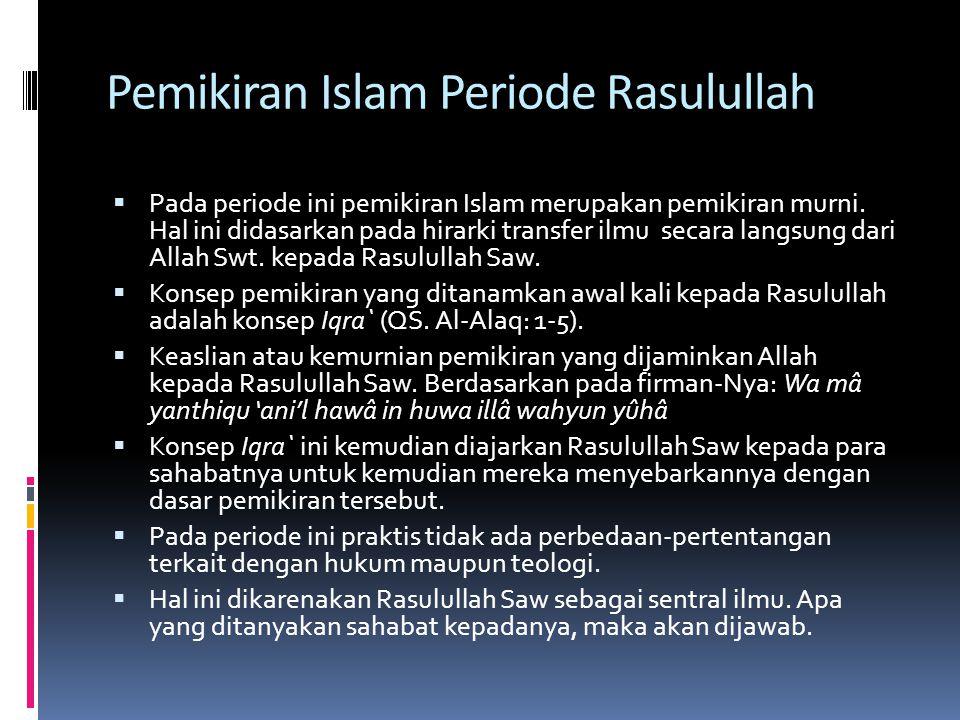 Pemikiran Islam Periode Rasulullah
