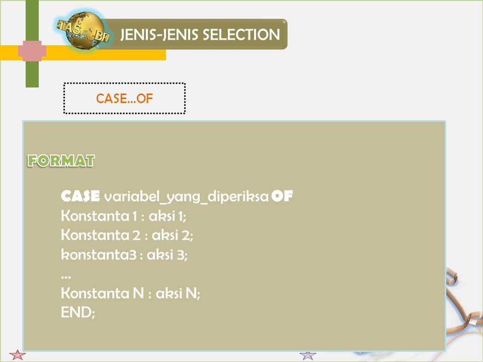JENIS-JENIS SELECTION