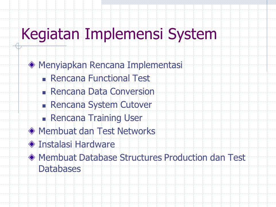 Kegiatan Implemensi System