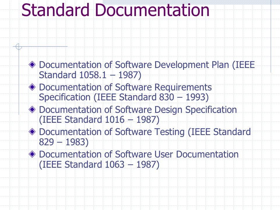 Standard Documentation