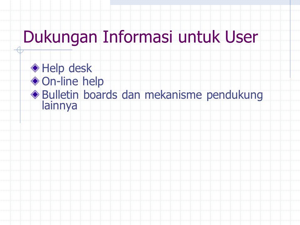Dukungan Informasi untuk User