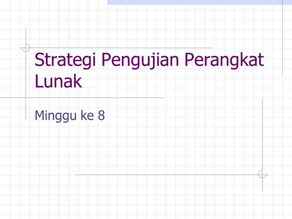 Strategi Pengujian Perangkat Lunak