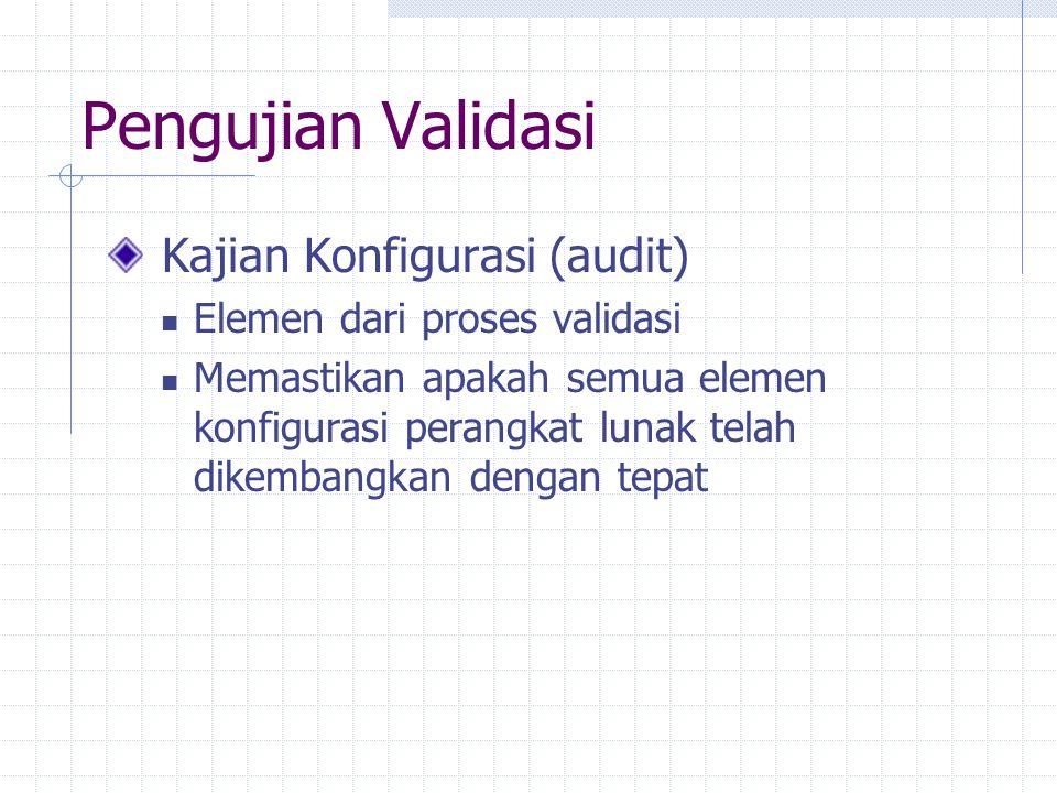 Pengujian Validasi Kajian Konfigurasi (audit)