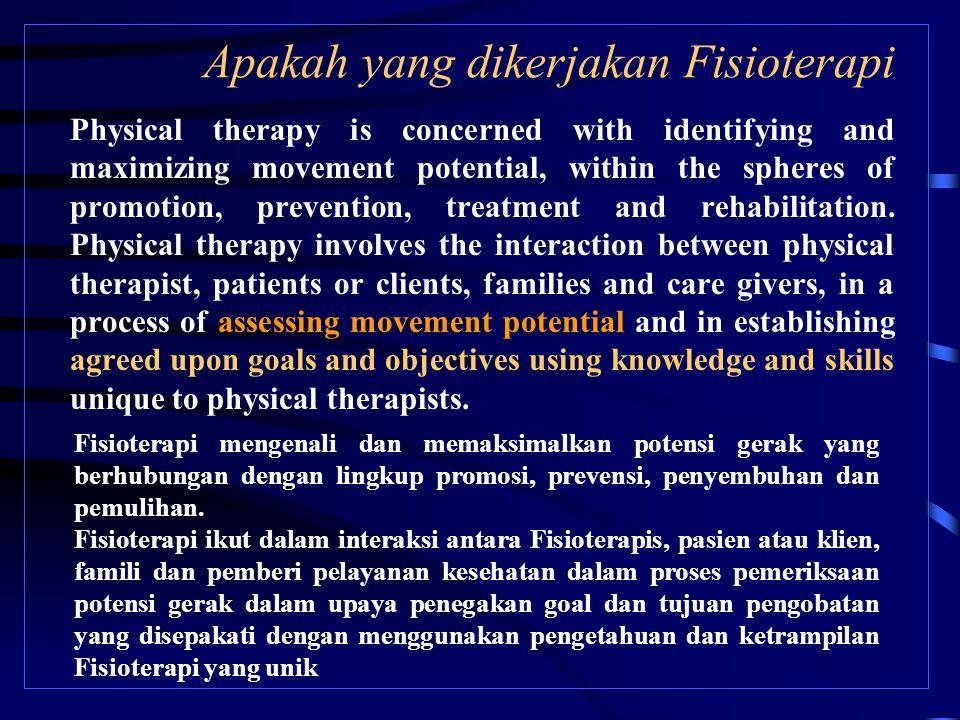 Apakah yang dikerjakan Fisioterapi
