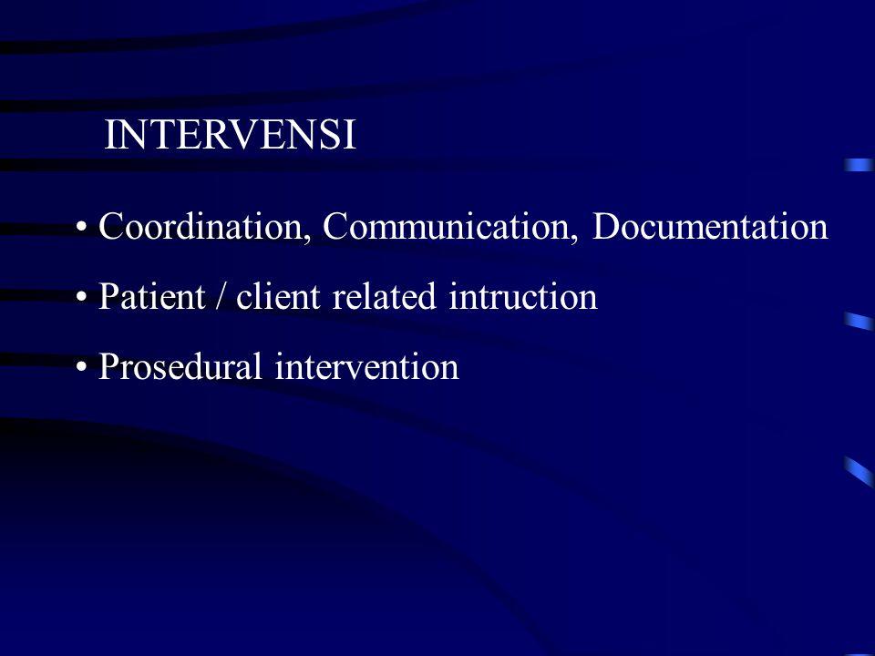 INTERVENSI Coordination, Communication, Documentation