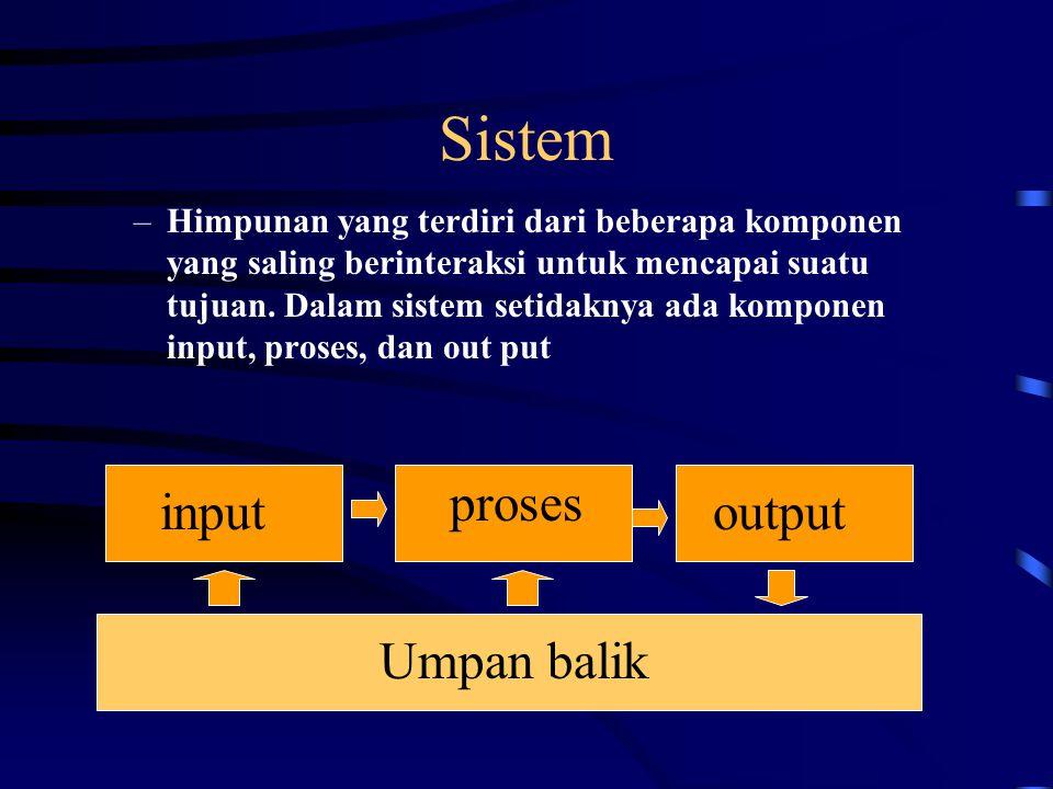 Sistem proses input output Umpan balik