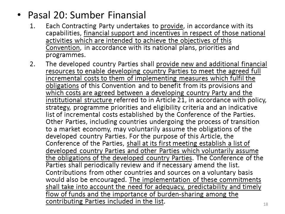 Pasal 20: Sumber Finansial