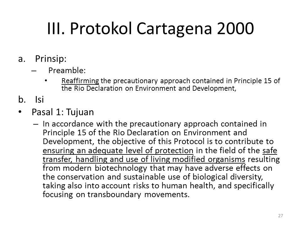 III. Protokol Cartagena 2000