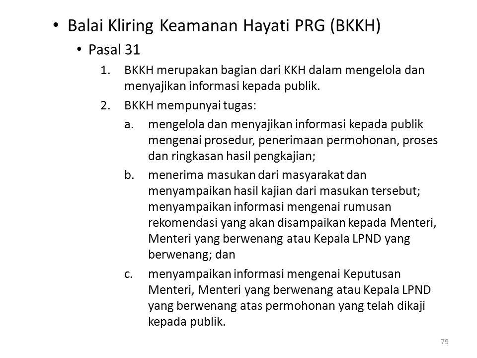 Balai Kliring Keamanan Hayati PRG (BKKH)