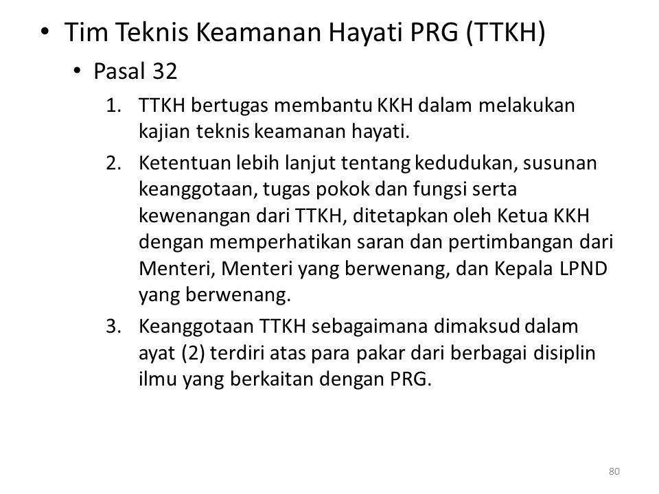 Tim Teknis Keamanan Hayati PRG (TTKH)
