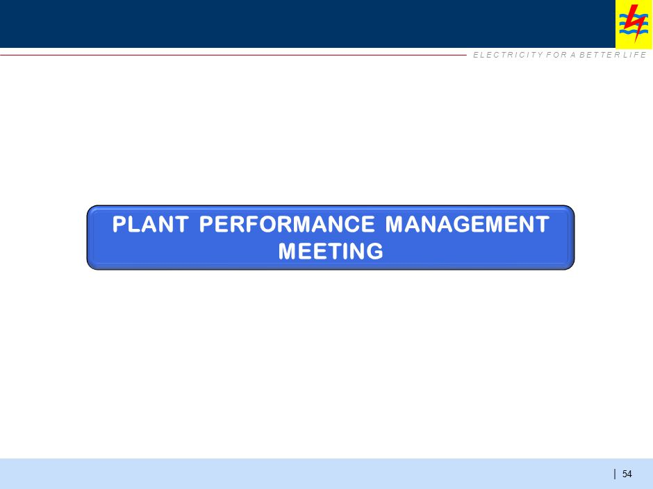 Plant Performance Management Meeting – summary