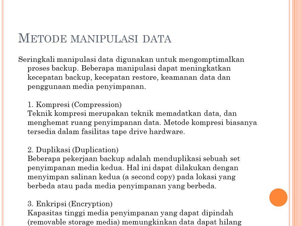 Metode manipulasi data