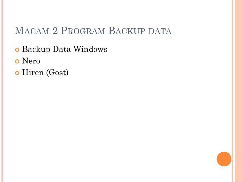 Macam 2 Program Backup data