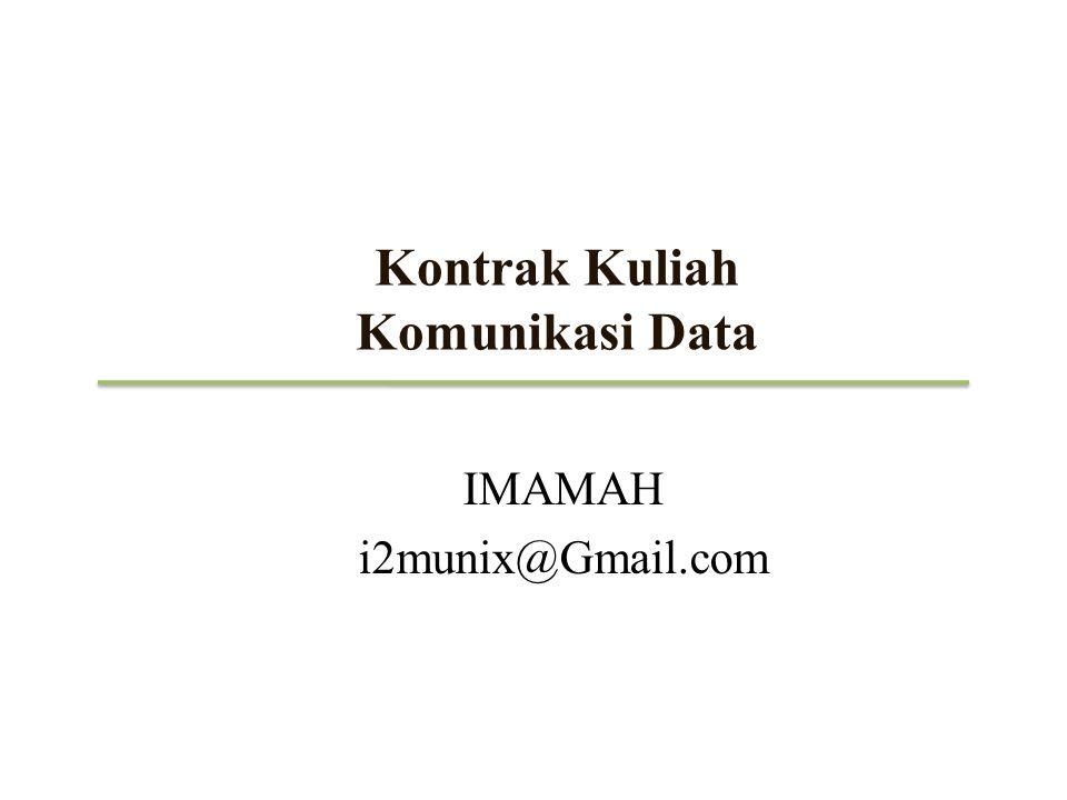 Kontrak Kuliah Komunikasi Data