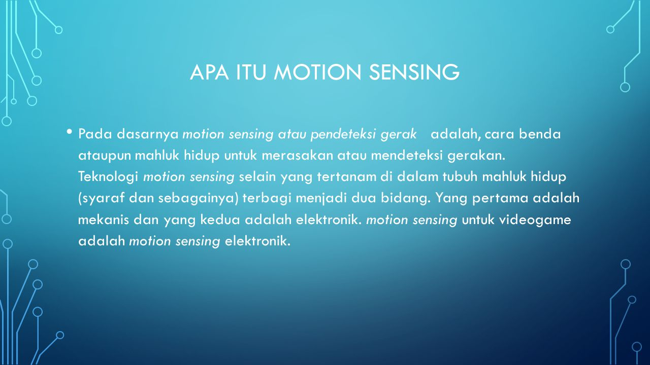 Apa itu motion sensing