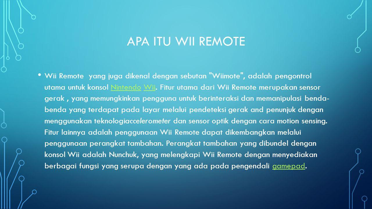 Apa itu wii remote